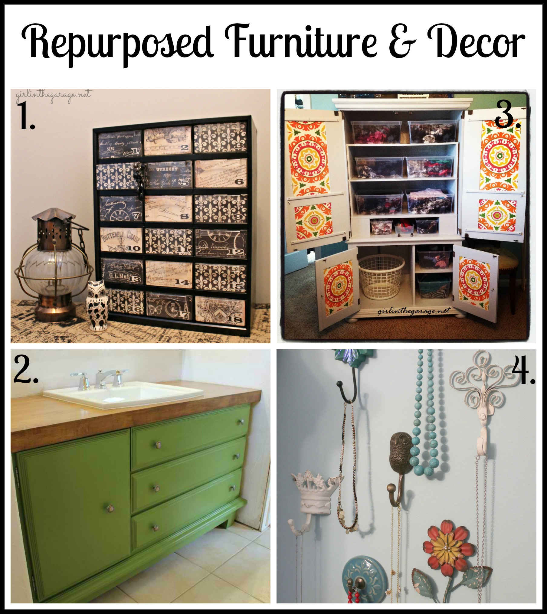 Give Items A Completely Different Purpose Than What They Were Originally  Intended For. Repurposed Furniture And Decor ...