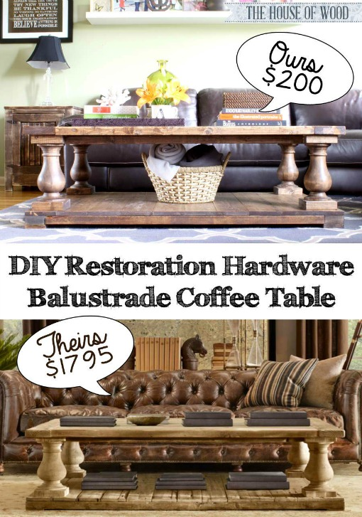 DIY Restoration Hardware Balustrade Coffee Table - The House of Wood