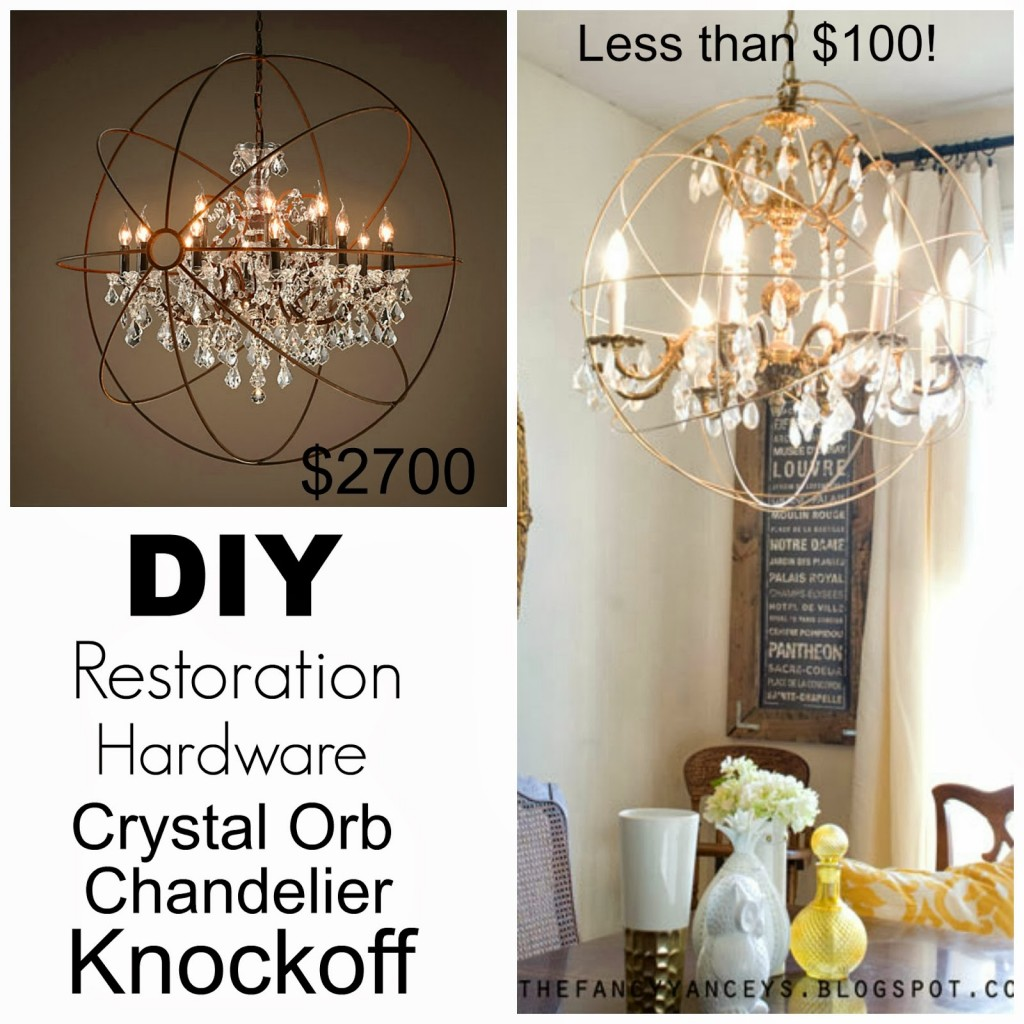 Restoration Hardware Orb Chandlier Knockoff - Verified Mom