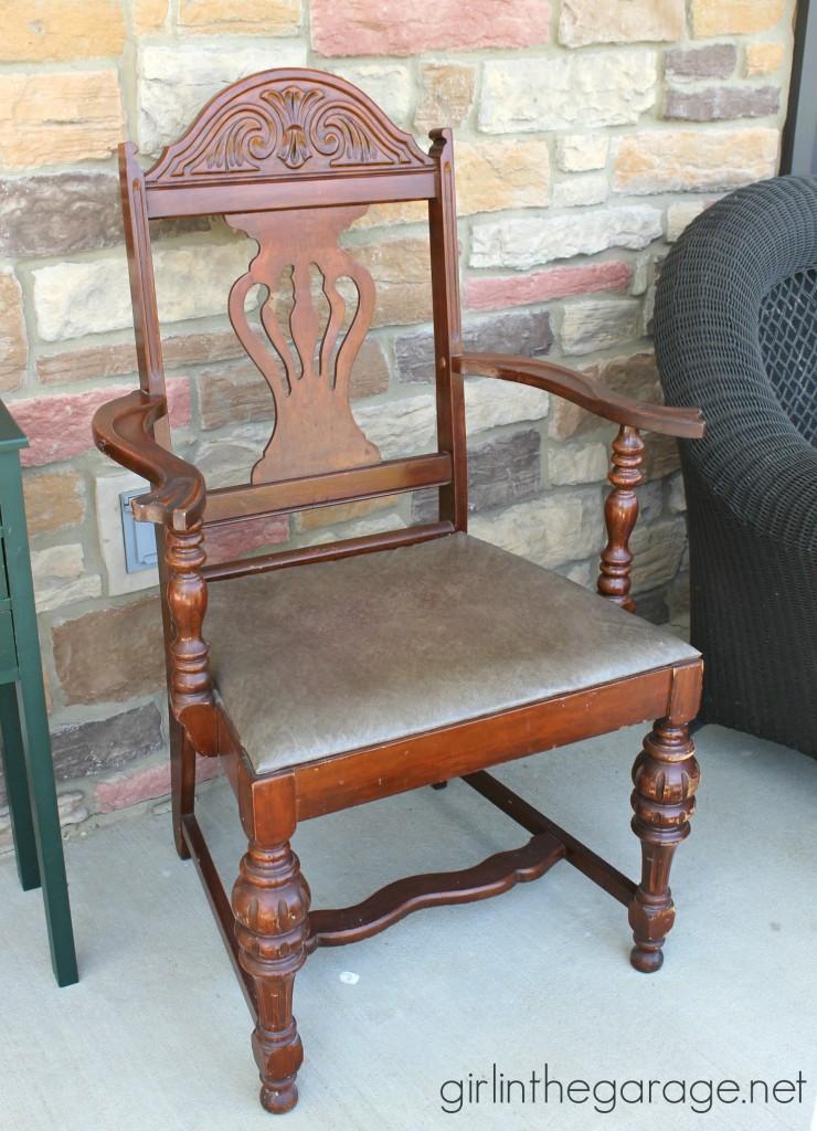 Boring brown vintage chair