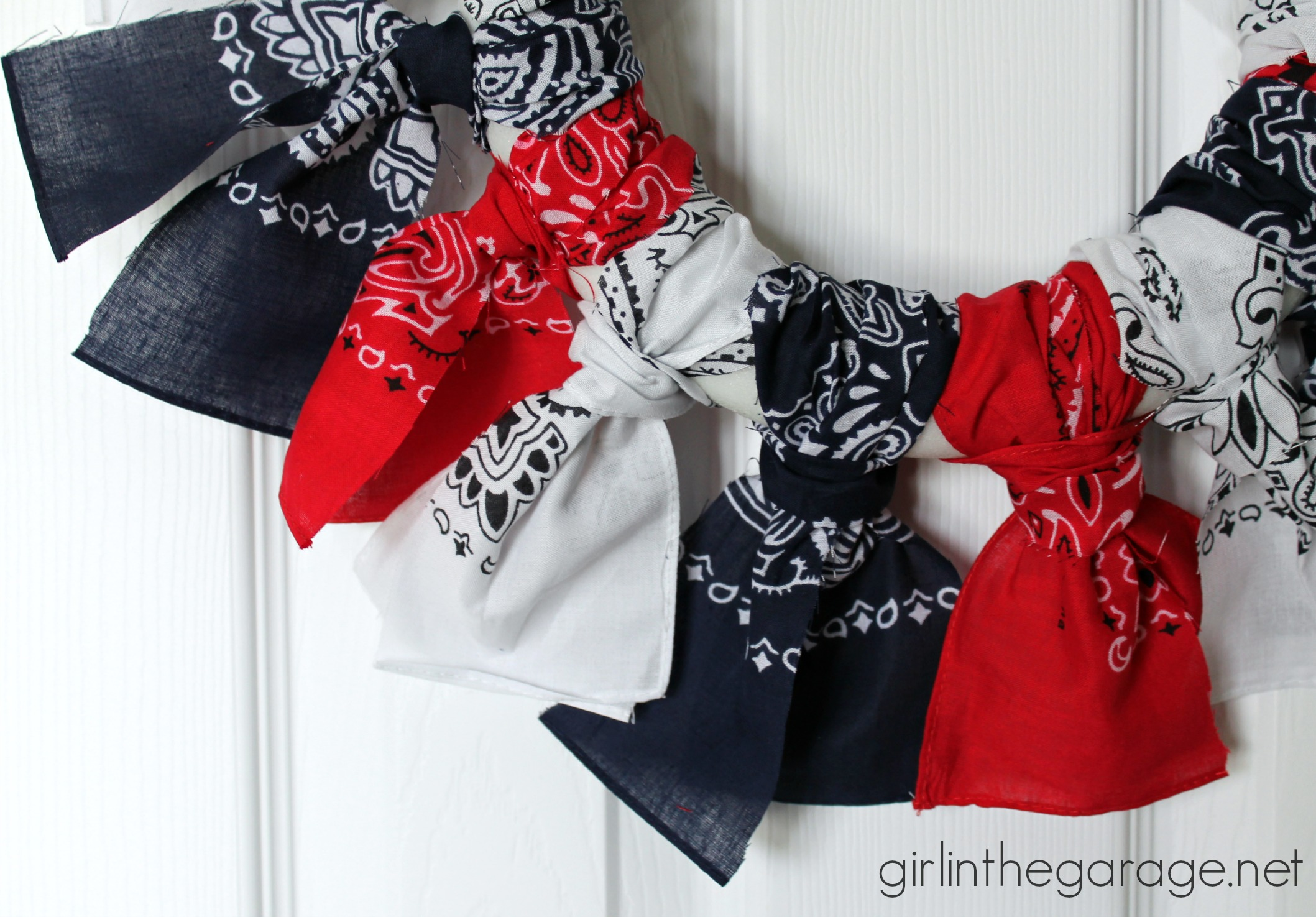 Well known Easy Bandana Wreath | Girl in the Garage® EF48