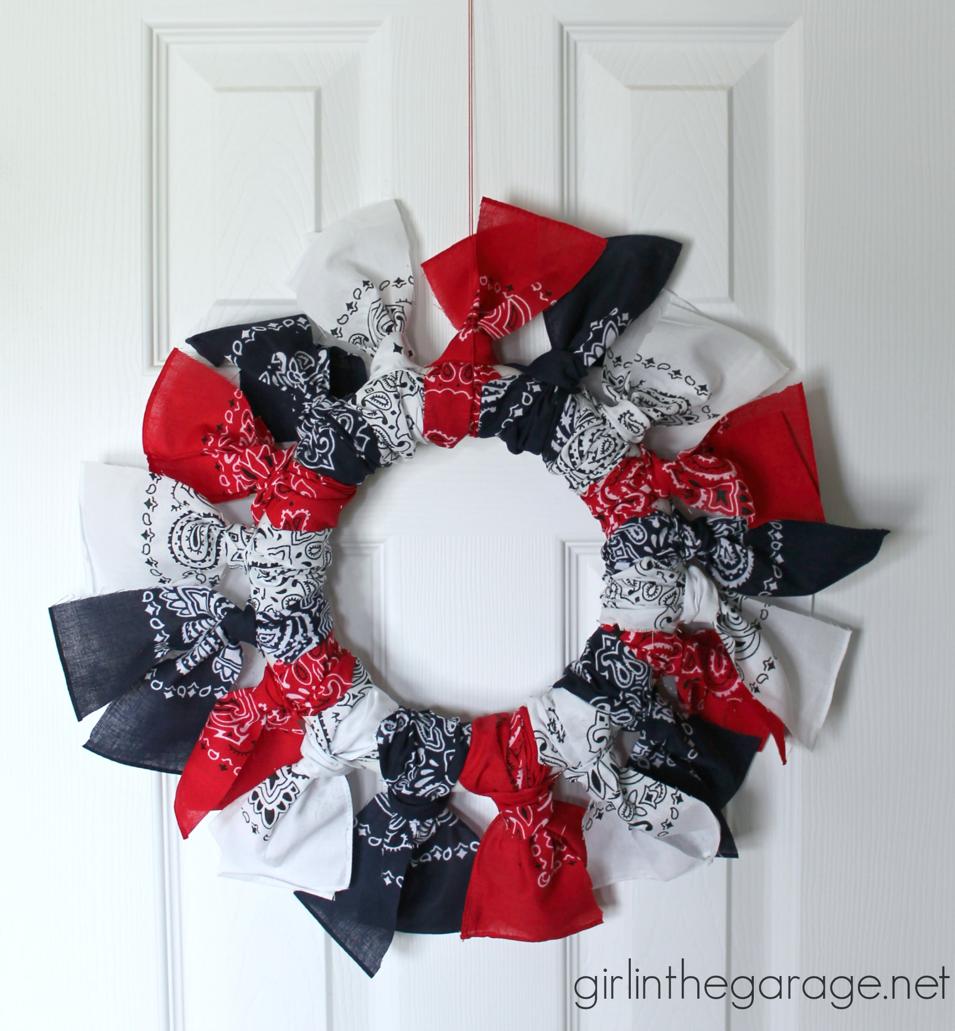 Easy Bandana Wreath Patriotic Inspiration Tour
