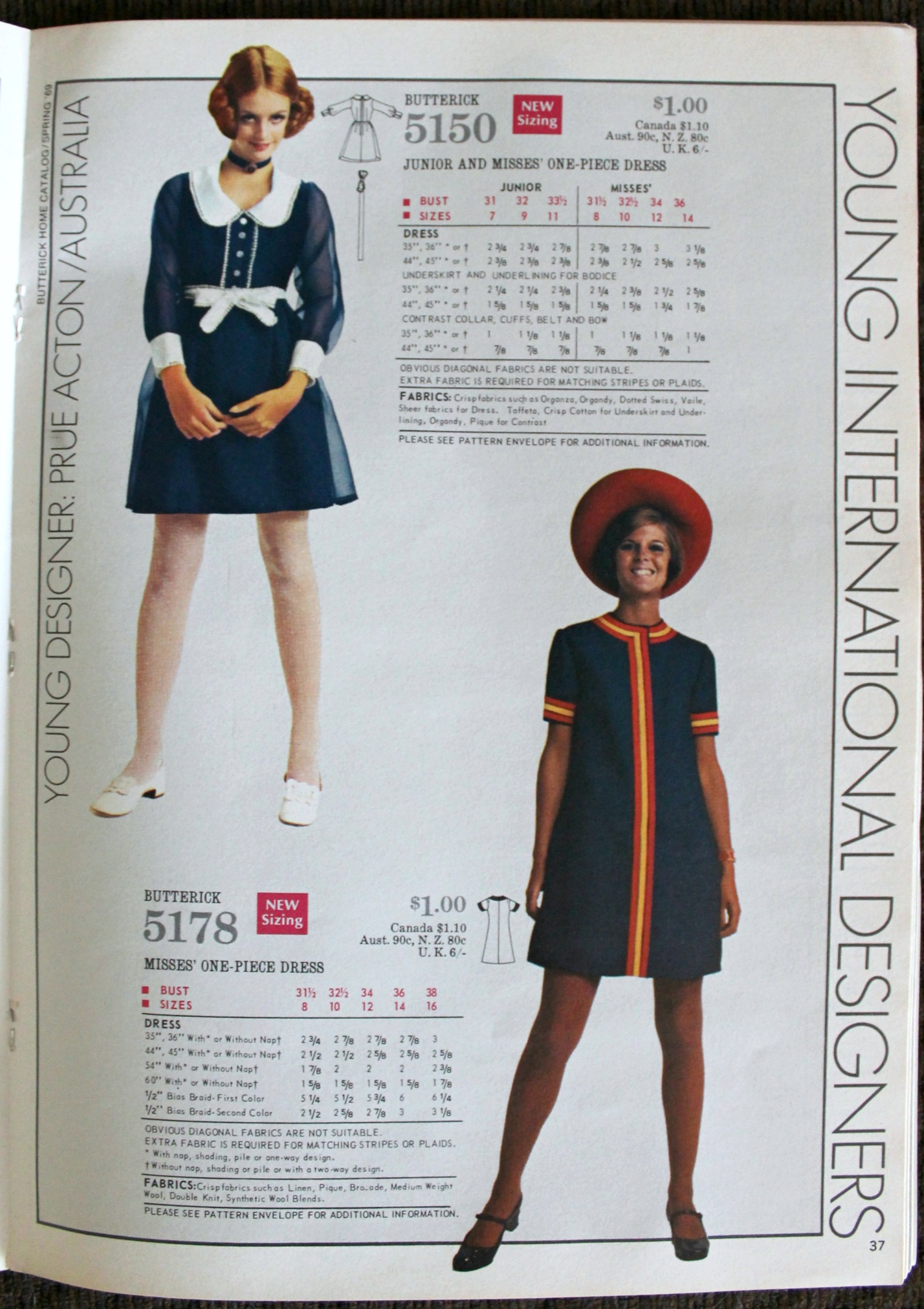 1969 Butterick Catalog Vintage Sewing Patterns Girl In