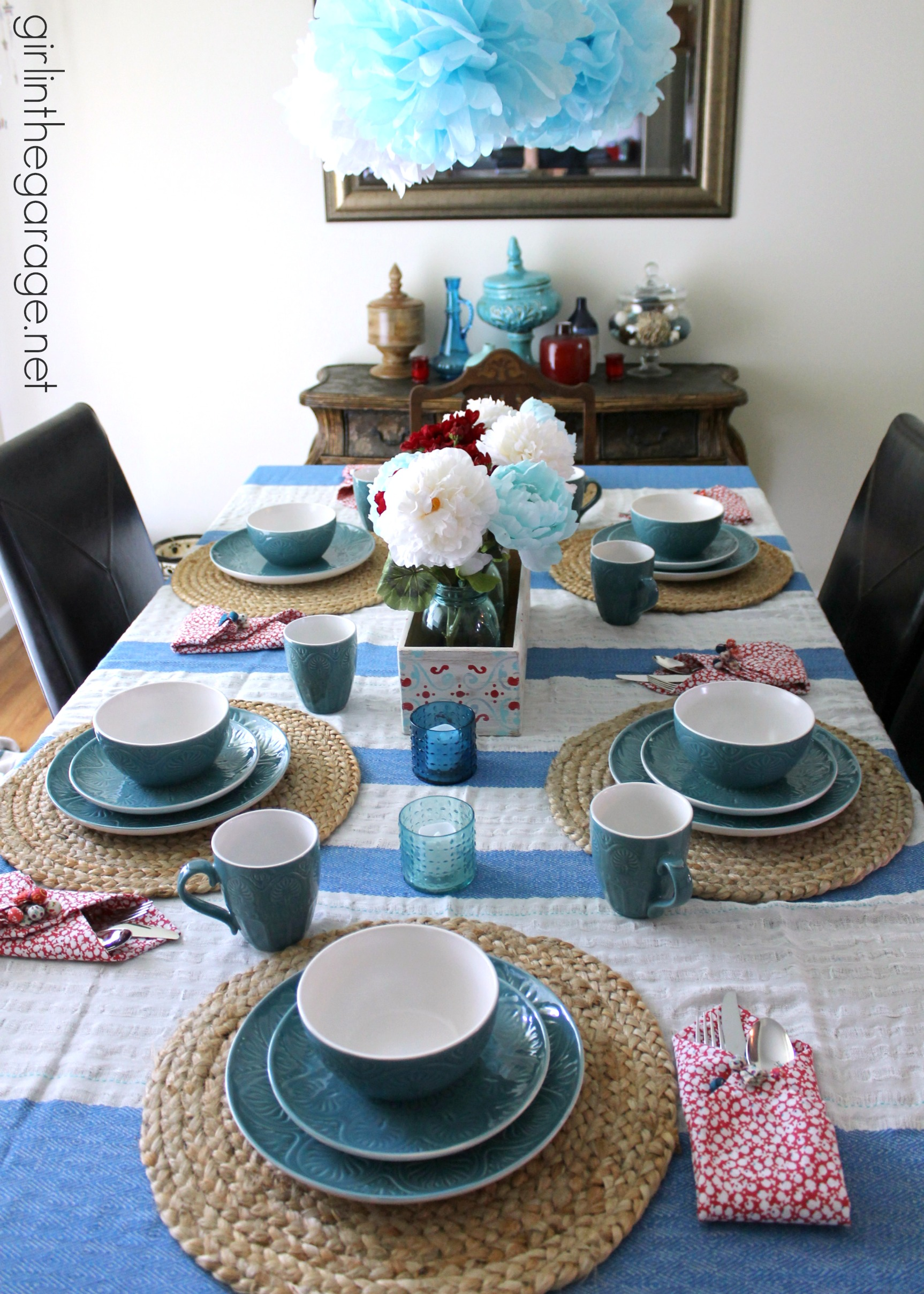 Beach Inspired Summer Tablescape With An Upcycled