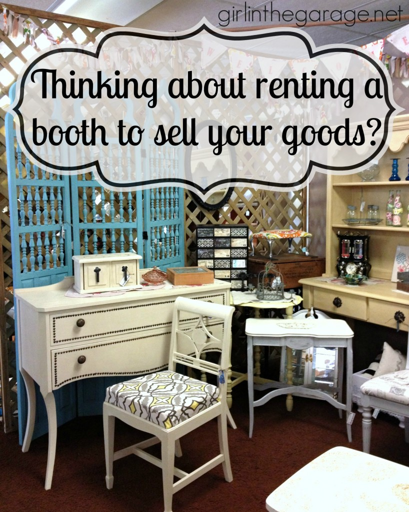 How to rent an antique booth space to sell your goods. Vintage vendor advice from Girl in the Garage