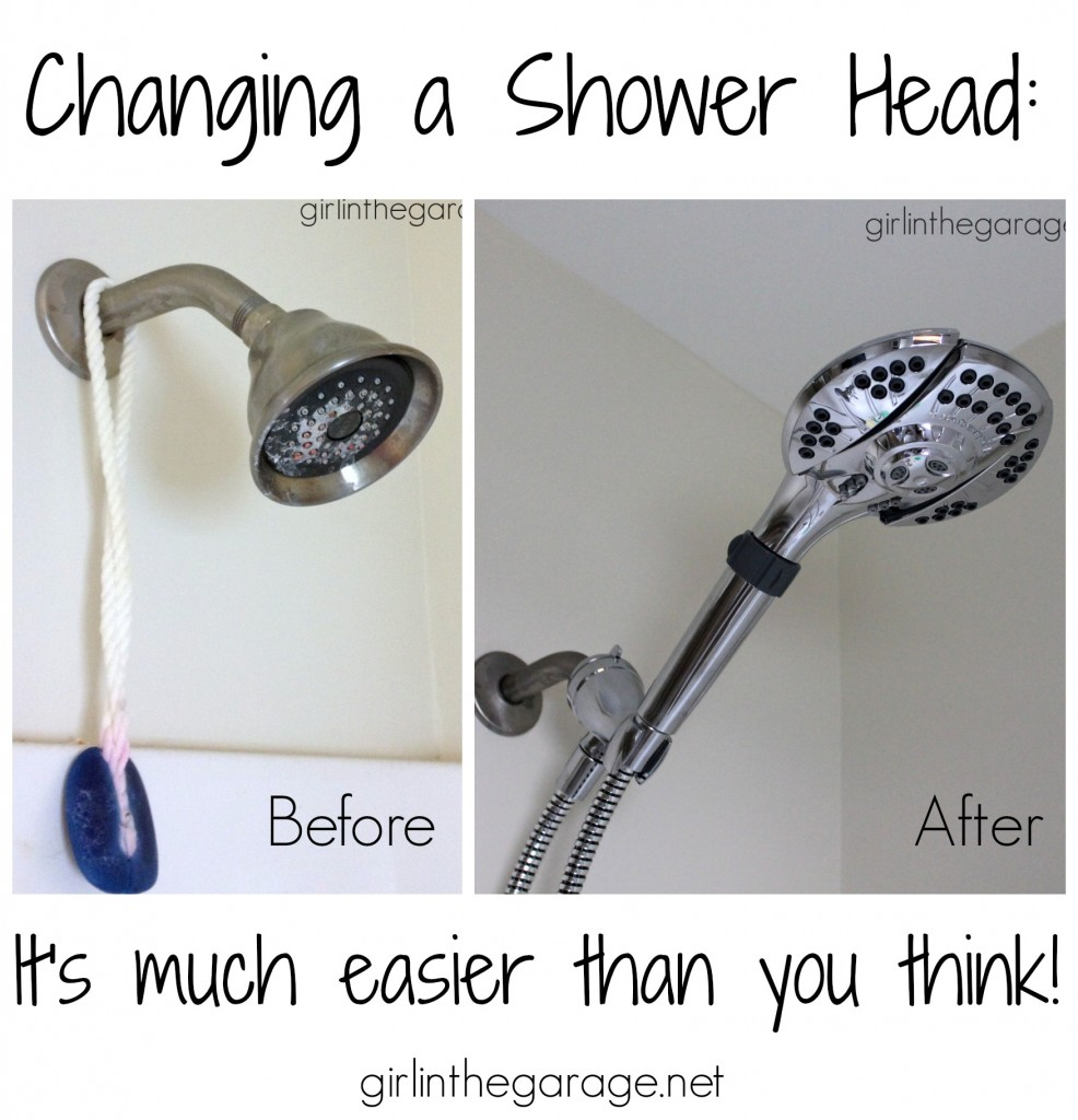 Changing a shower head - it's much easier than you think!  girlinthegarage.net