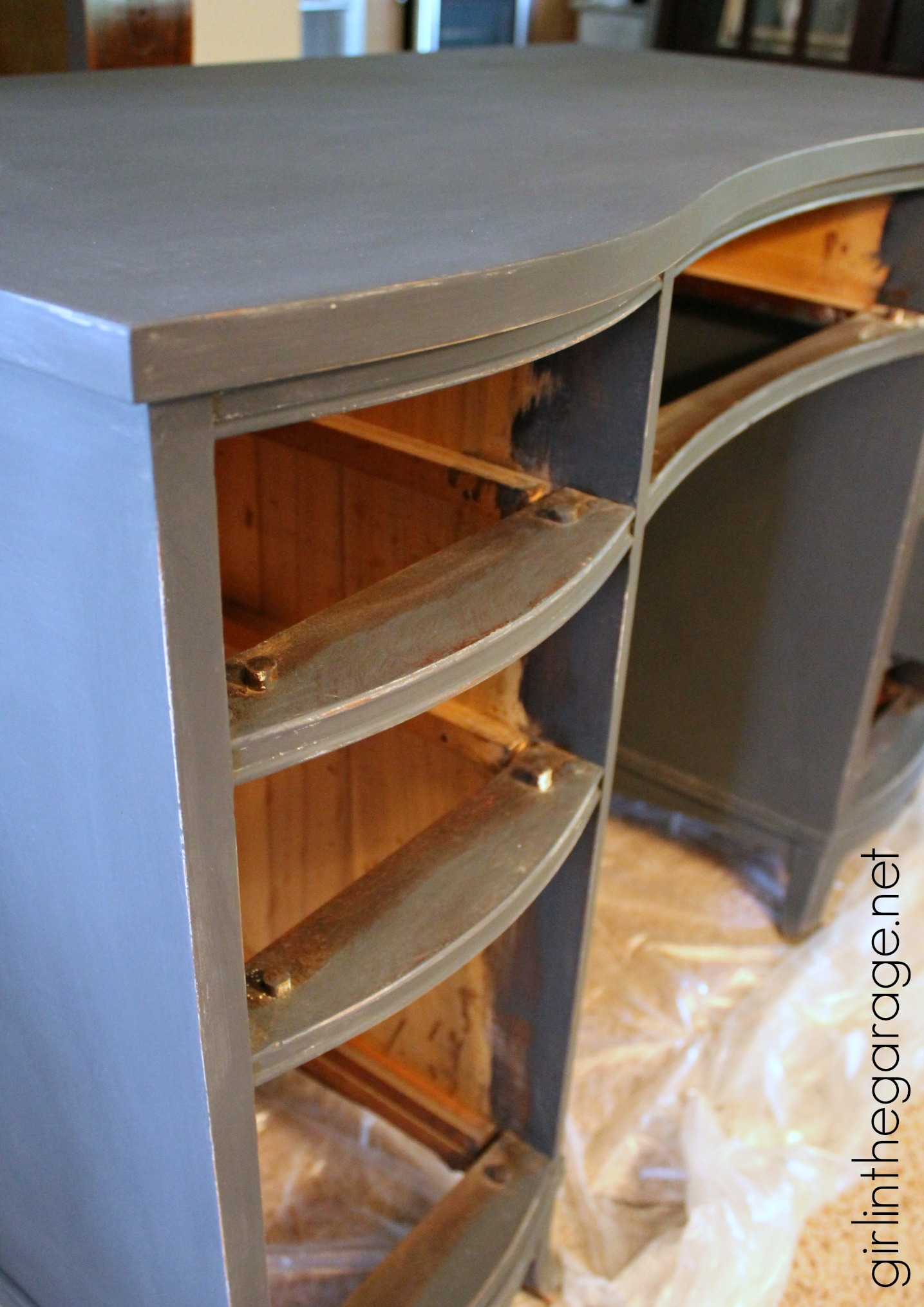 french decoupage desk themed furniture makeover day in