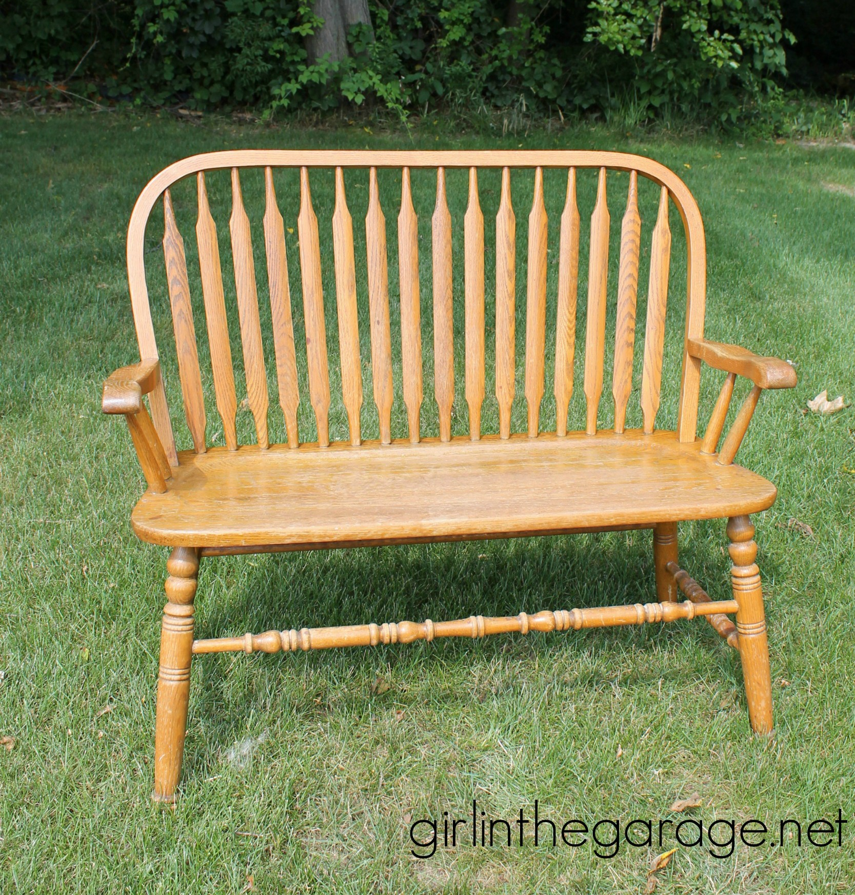 Before: Weathered Wood Bench Makeover With Annie Sloan Chalk Paint In Old  Ochre. Girlinthegarage