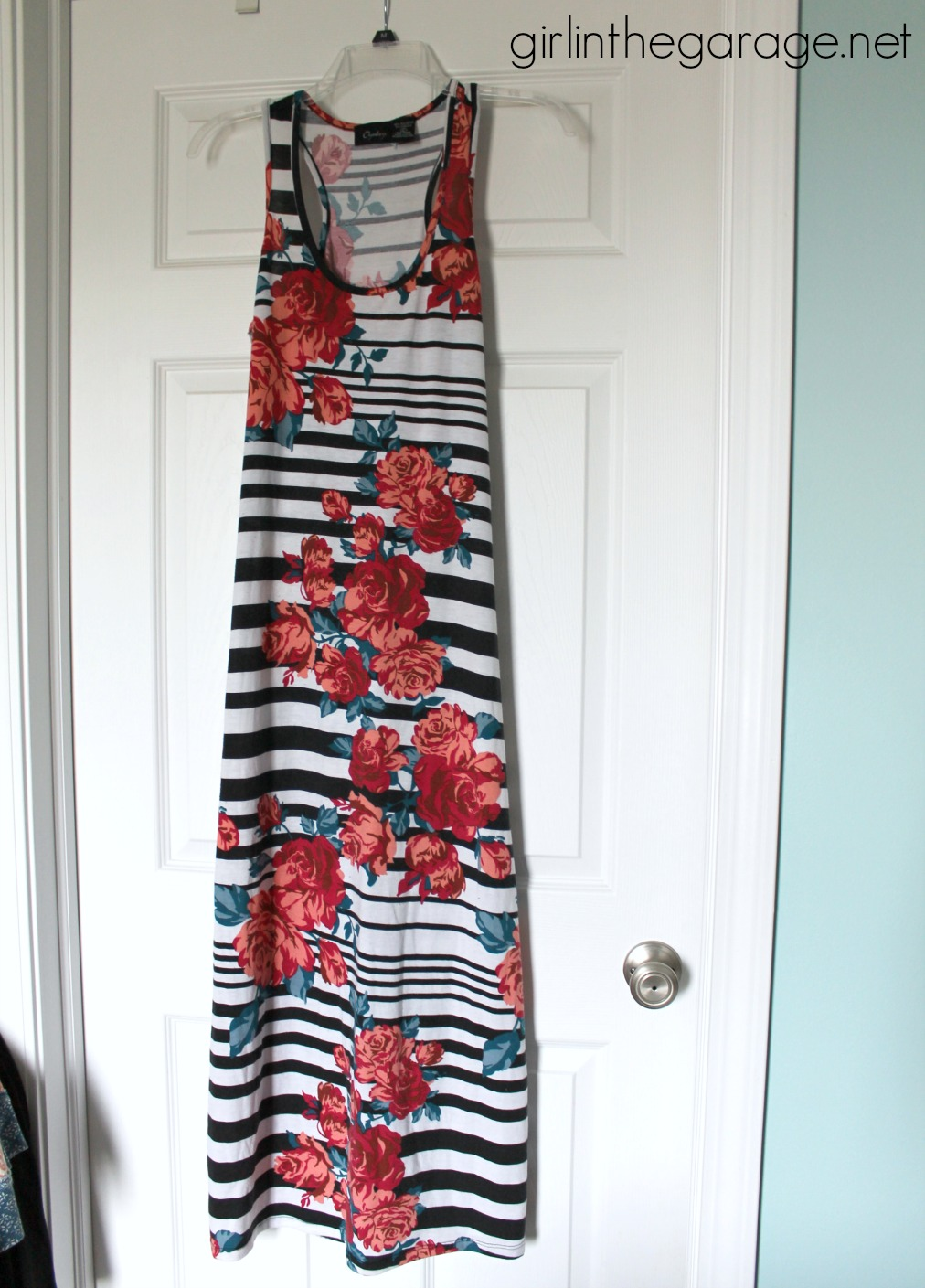 Maxi dress to DIY infinity scarf tutorial