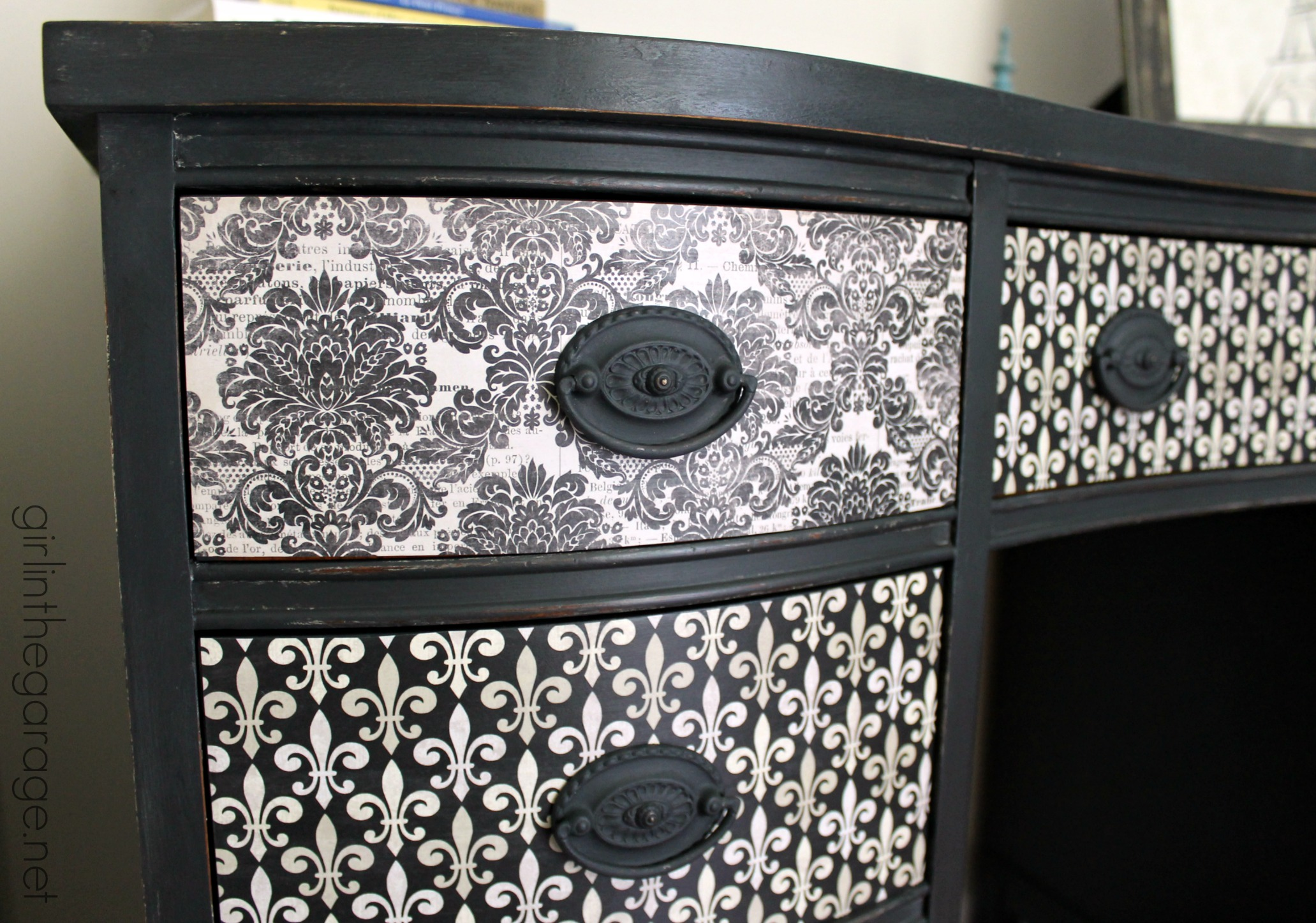 French Decoupage Desk Themed Furniture Makeover Day