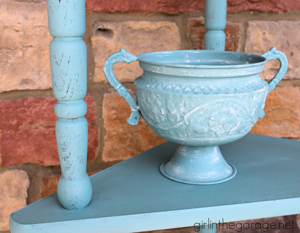 Shades of Blue Chalk Paint {Aubusson and Provence} - girlinthegarage.net