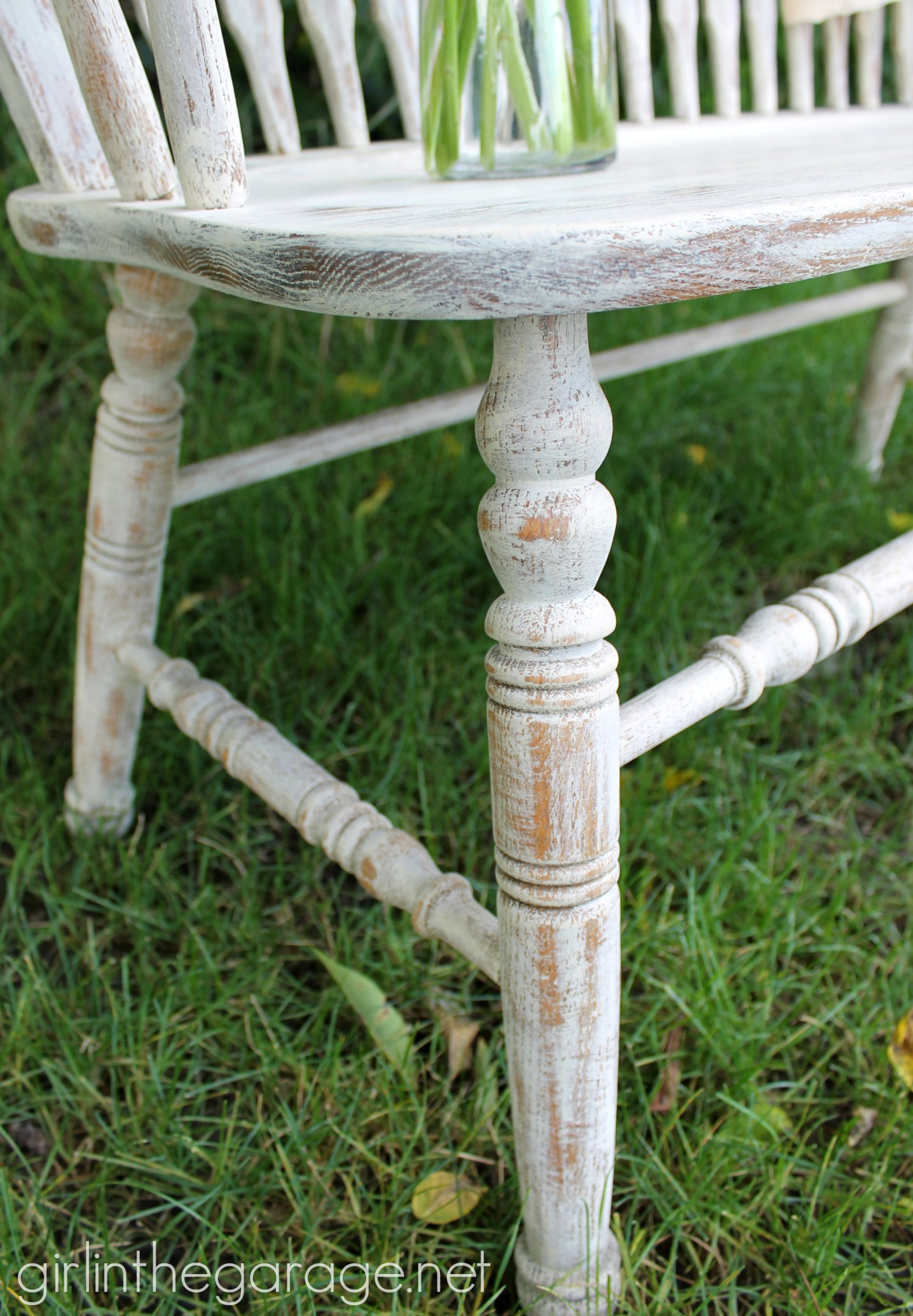 Weathered Bench Makeover With Chalk Paint