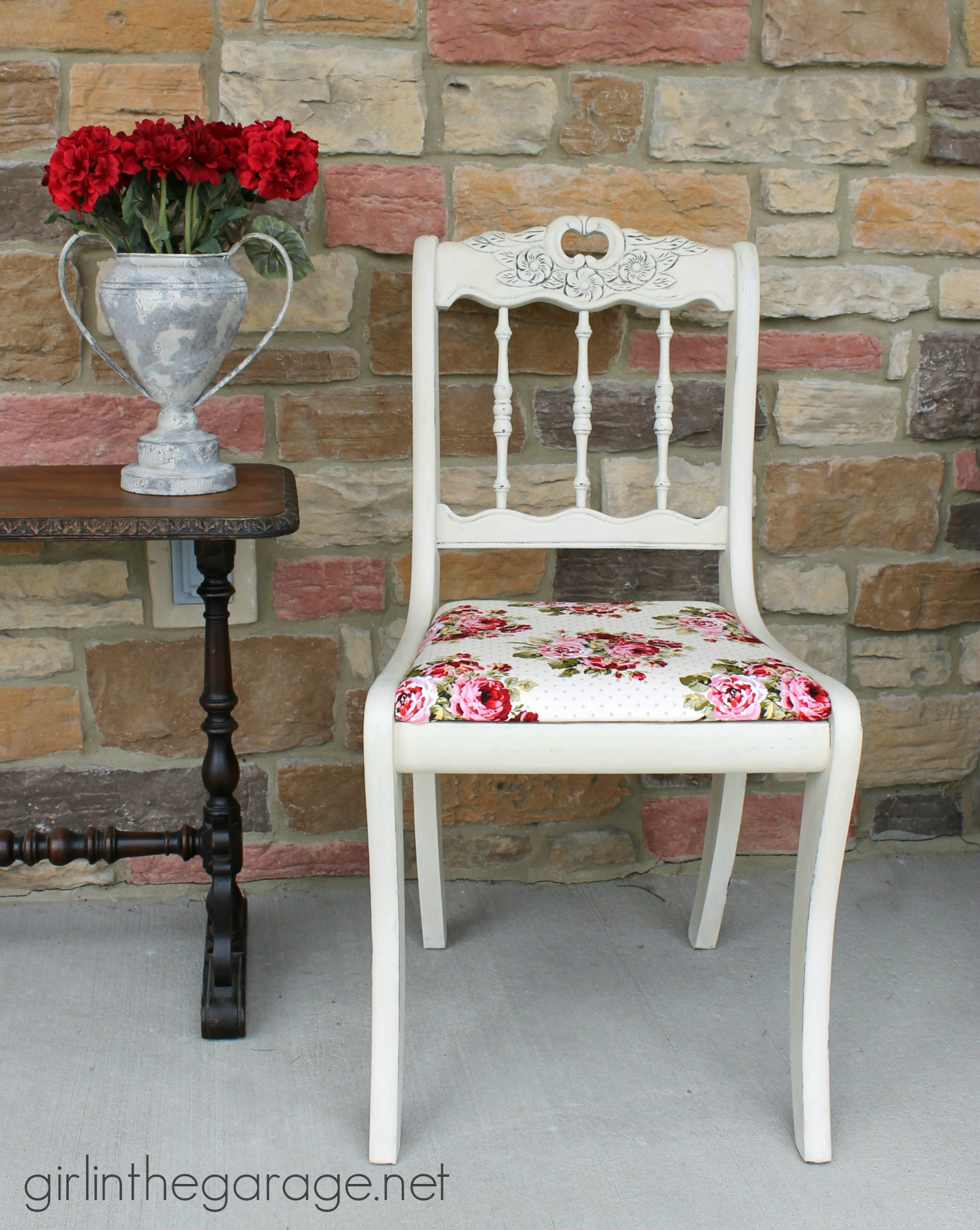 See How An Old Chair Got A Shabby Chic Makeover With Chalk Paint And  Vintage