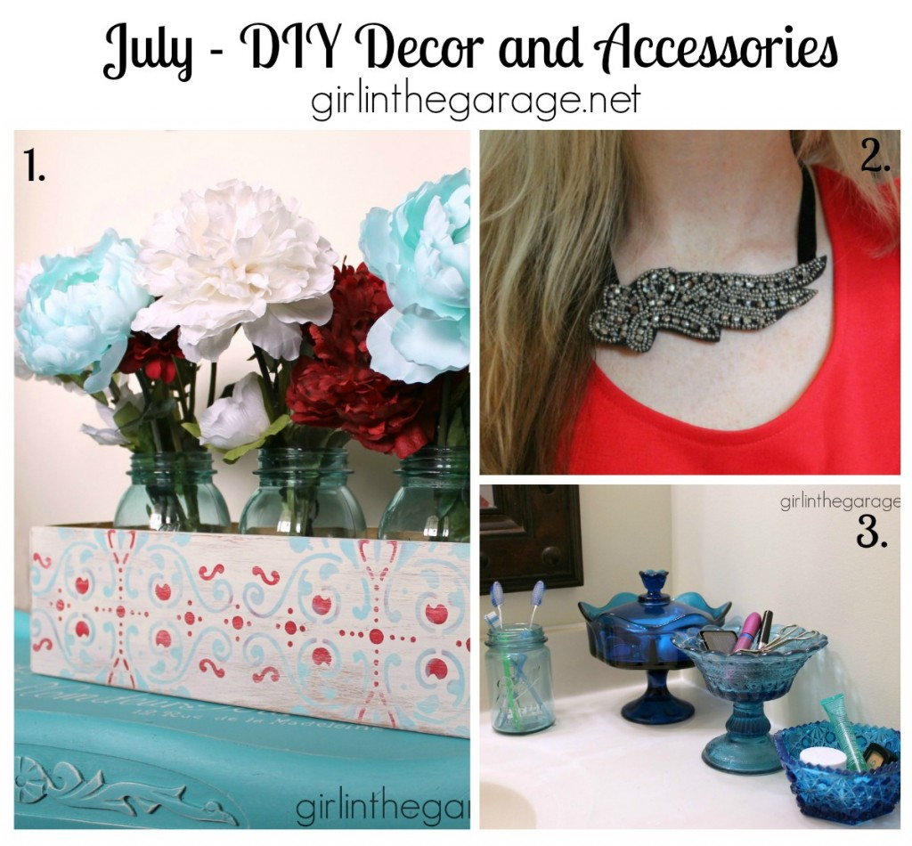 July 2014  DIY Decor and Accessories - girlinthegarage.net