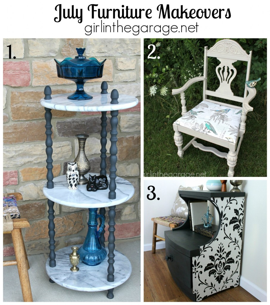 July 2014 Furniture Makeovers - girlinthegarage.net