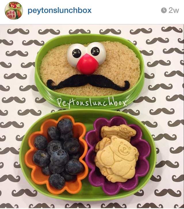 Bento lunch via Peyton's Lunchbox on Instagram