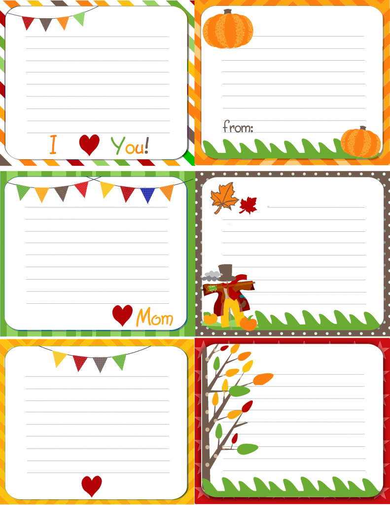 Printable Lunch Notes by Kiyomi Designs