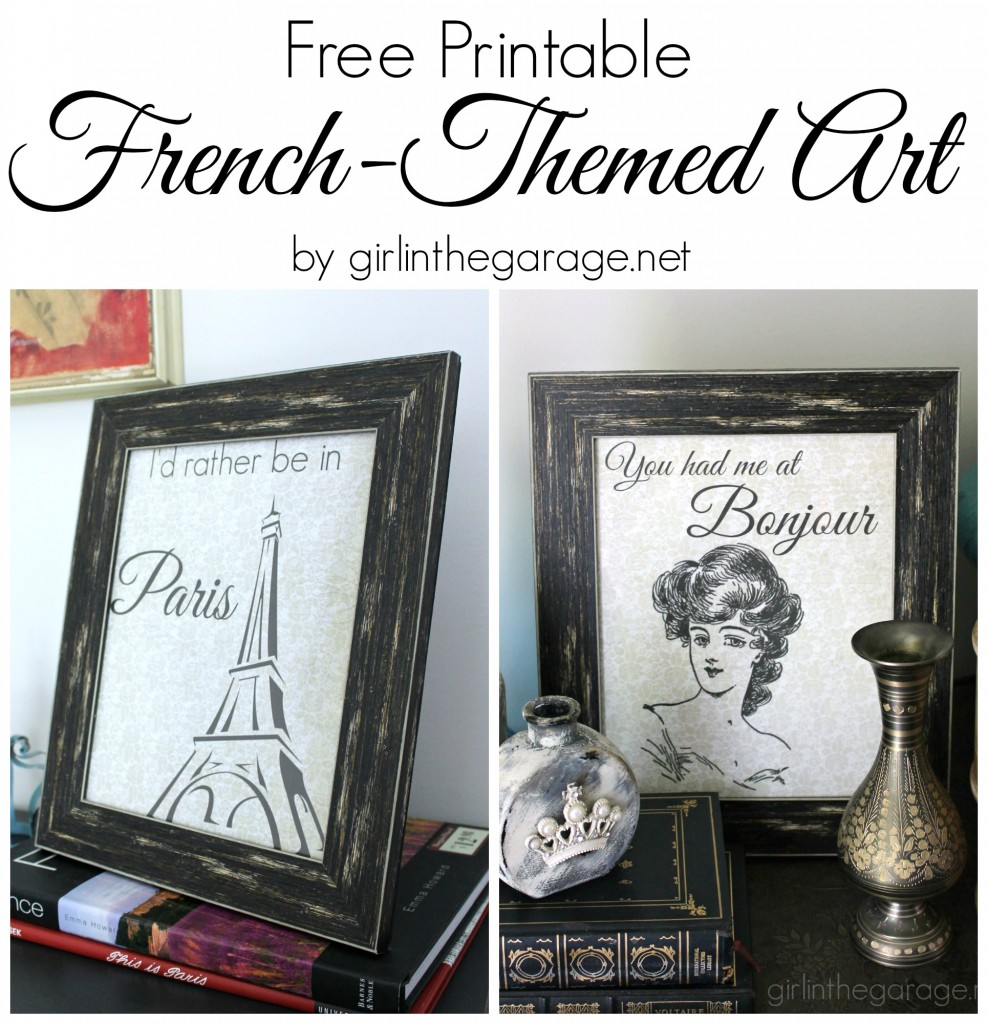Free Printable French-Themed Art - girlinthegarage.net
