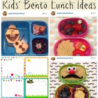 Kids' Bento Lunch Ideas and Printable Lunchbox Notes