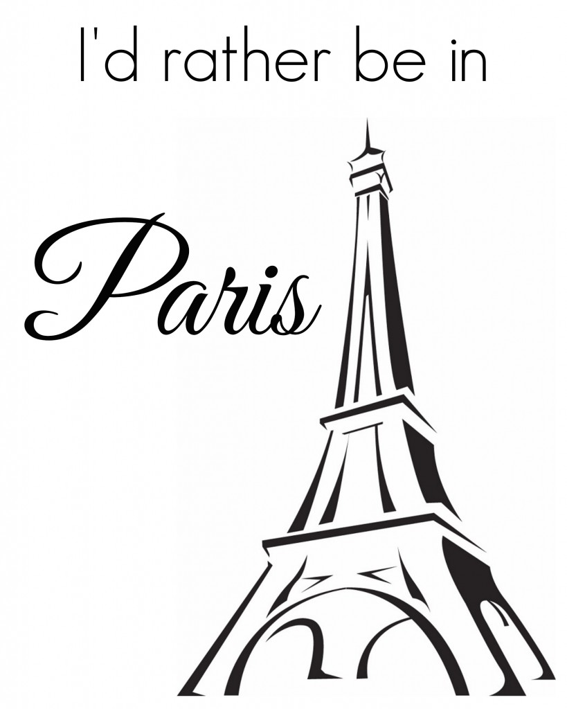 Add some French flair to your home decor with these free printable French-themed images.  girlinthegarage.net