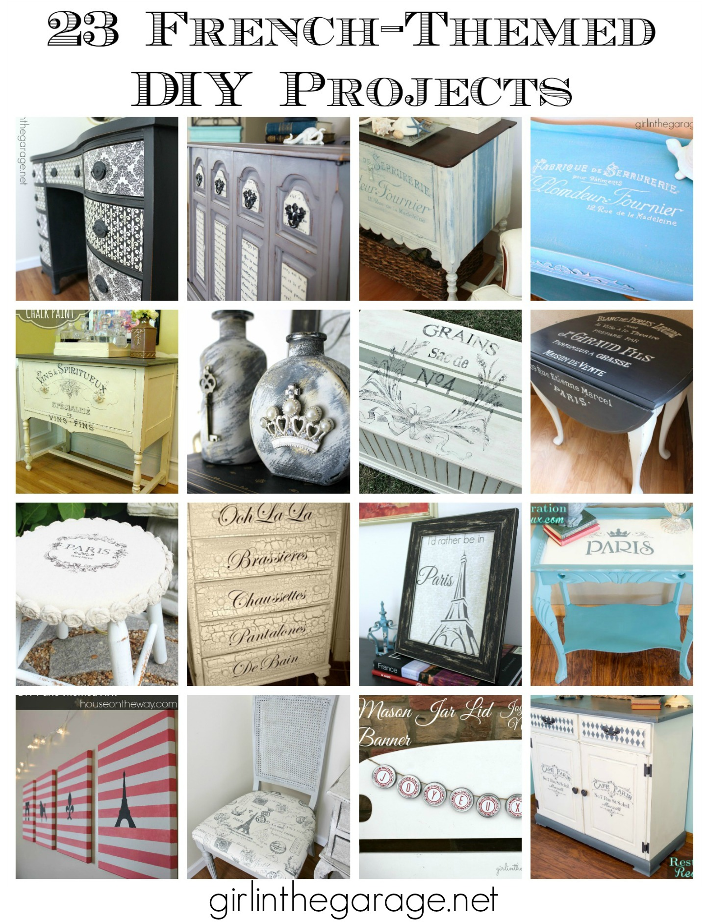 23 French Themed Diy Projects Girl In The Garage  # Bedtime Muebles