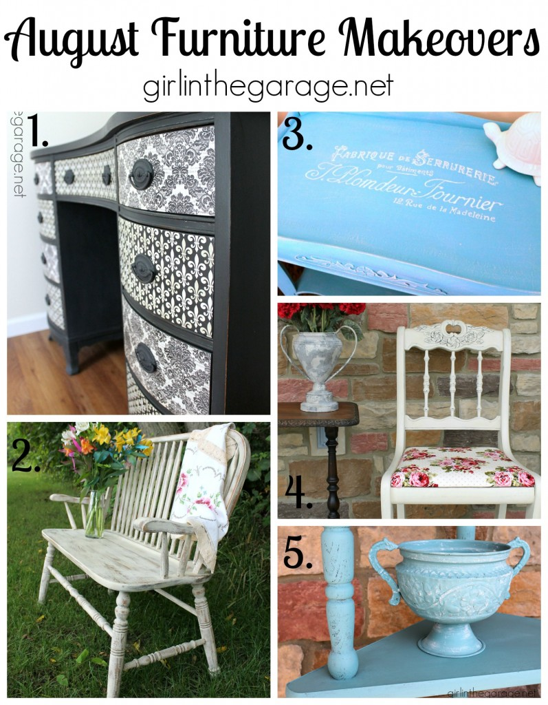 August Furniture Makeovers - girlinthegarage.net