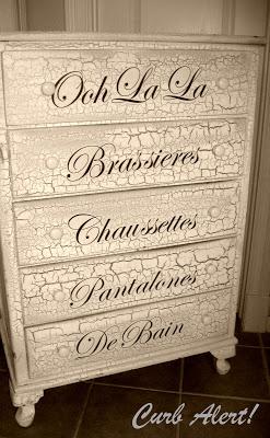 French Dresser - Curb Alert!