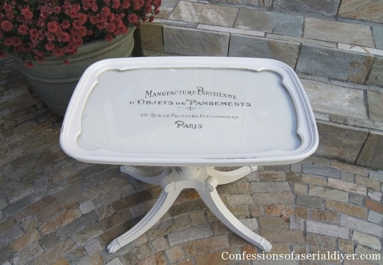 Tray-Top Table - Confessions of a Serial Do-It-Yourselfer