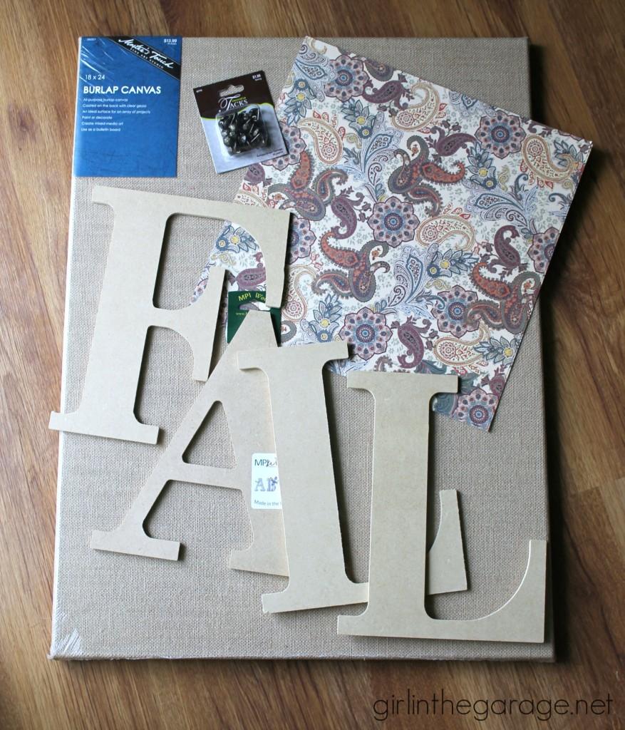 DIY Fall Burlap Art and Mantel {Fall Home Decor Tour}