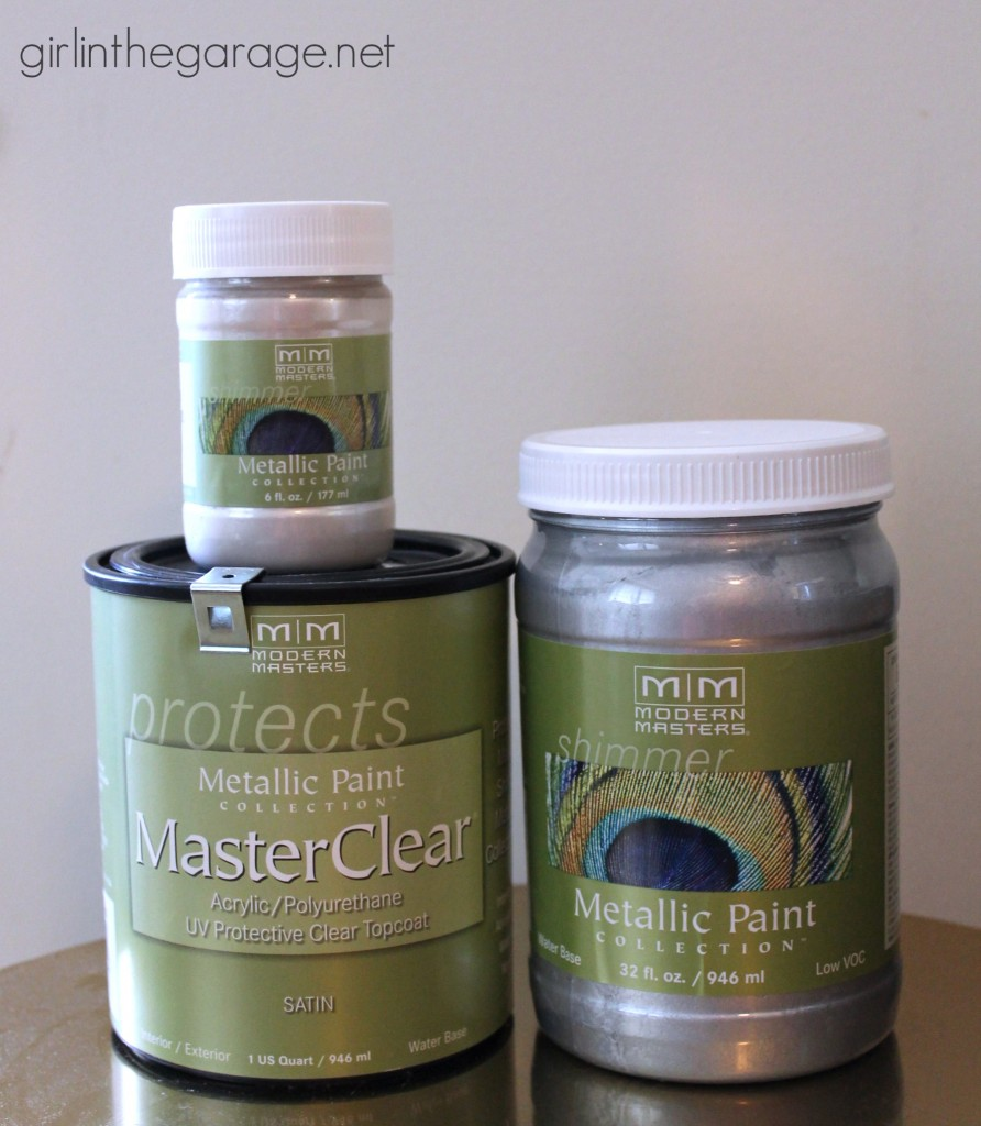 Favorite DIY Products - Modern Masters metallic paint