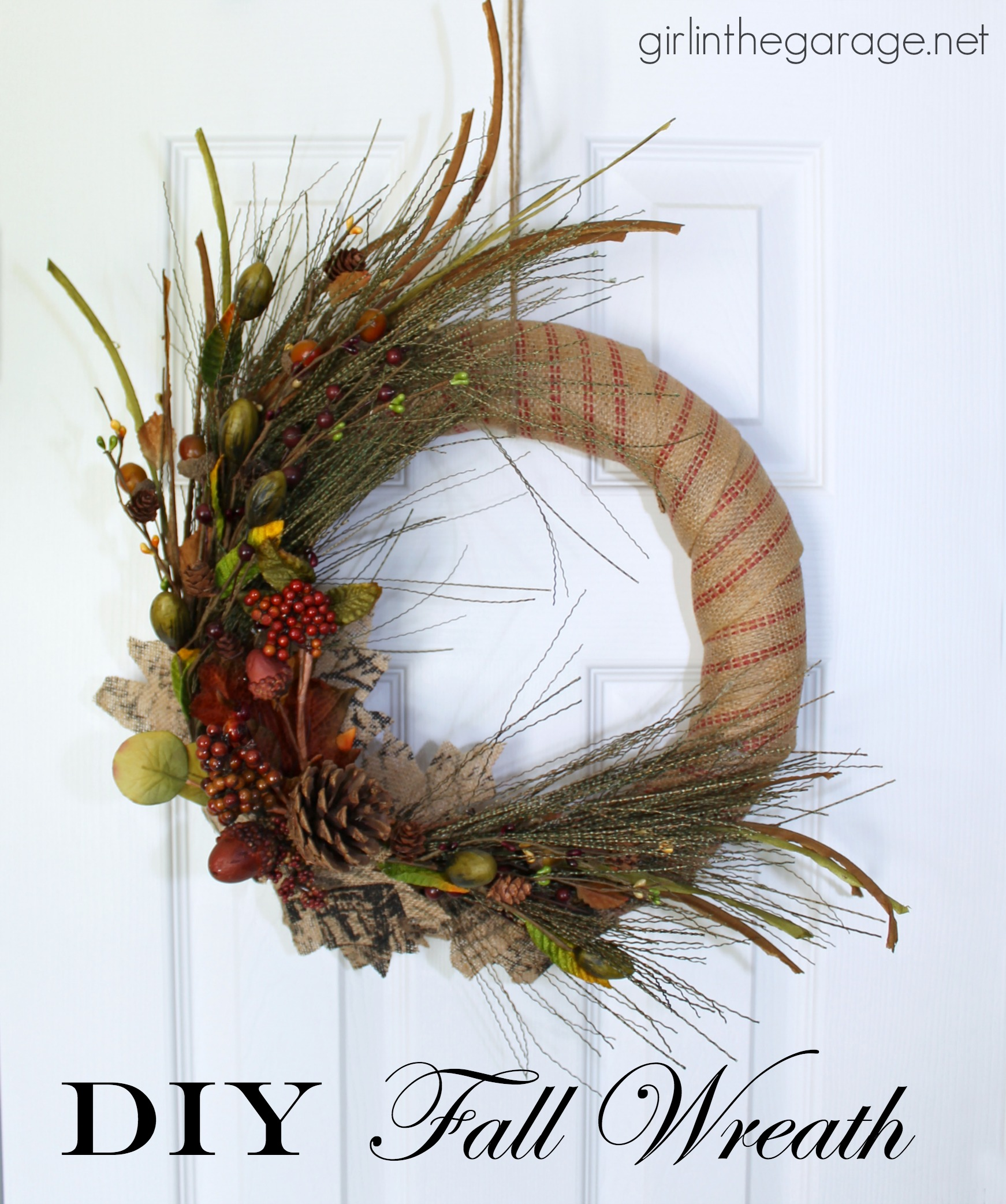 Fall Wreath Diy Fall Wreath Girl In The Garagear