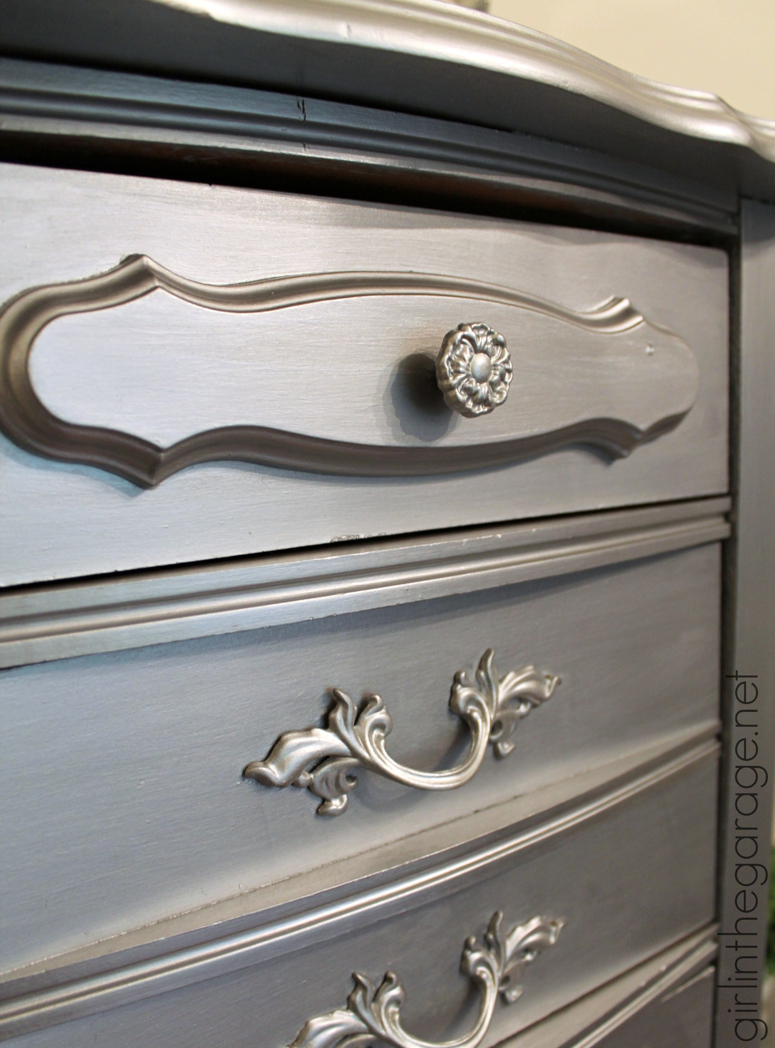 Faux To Fab Metallic Furniture Makeover With Modern
