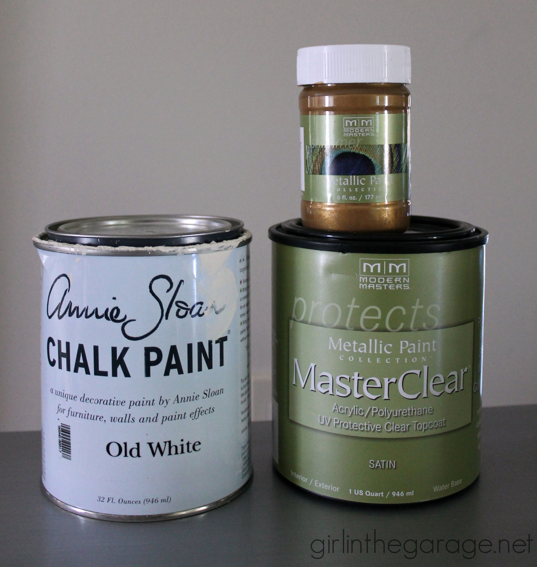 How To Stencil Furnature Gold Metalic Paint