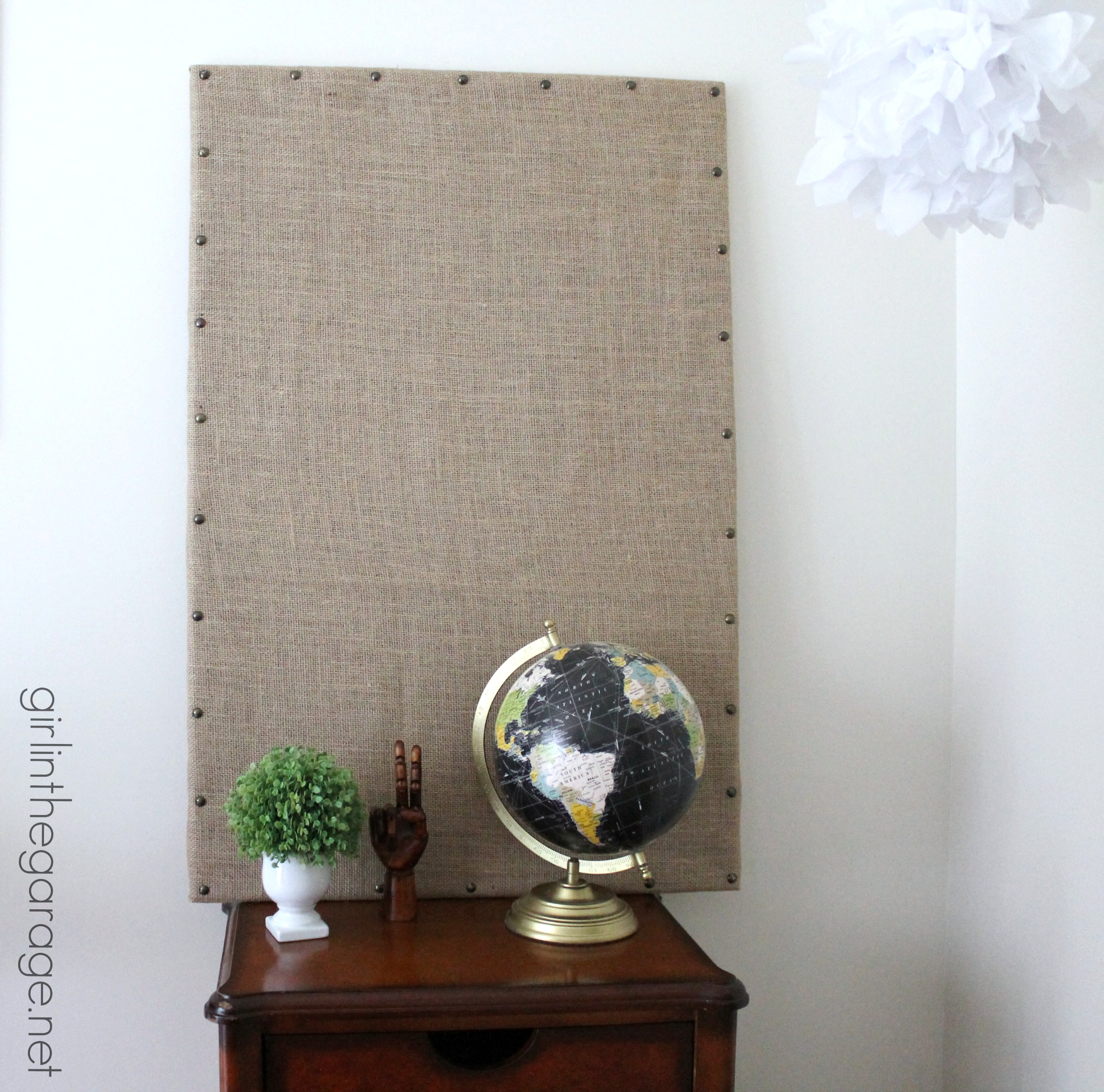 Burlap Message Board Inspired by Ballard Designs