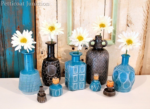 yarn wrapped glass bottles by view from the fridge. Black Bedroom Furniture Sets. Home Design Ideas