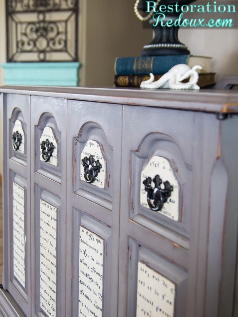 French Stenciled Console - Restoration Redoux