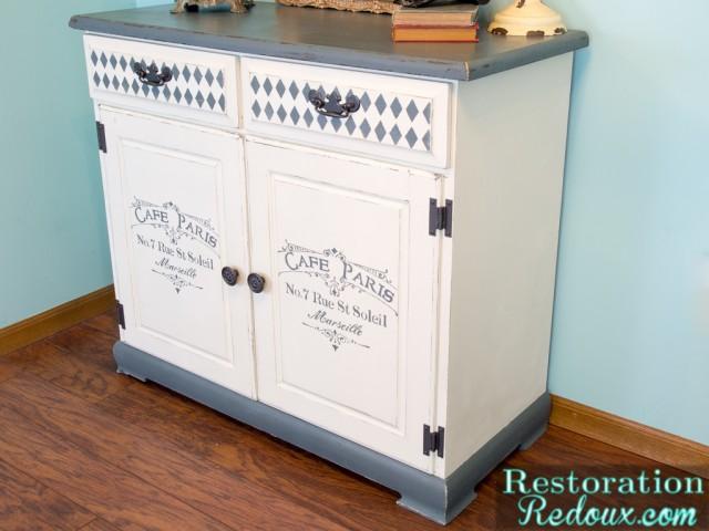 Stenciled Cabinet - Restoration Redoux