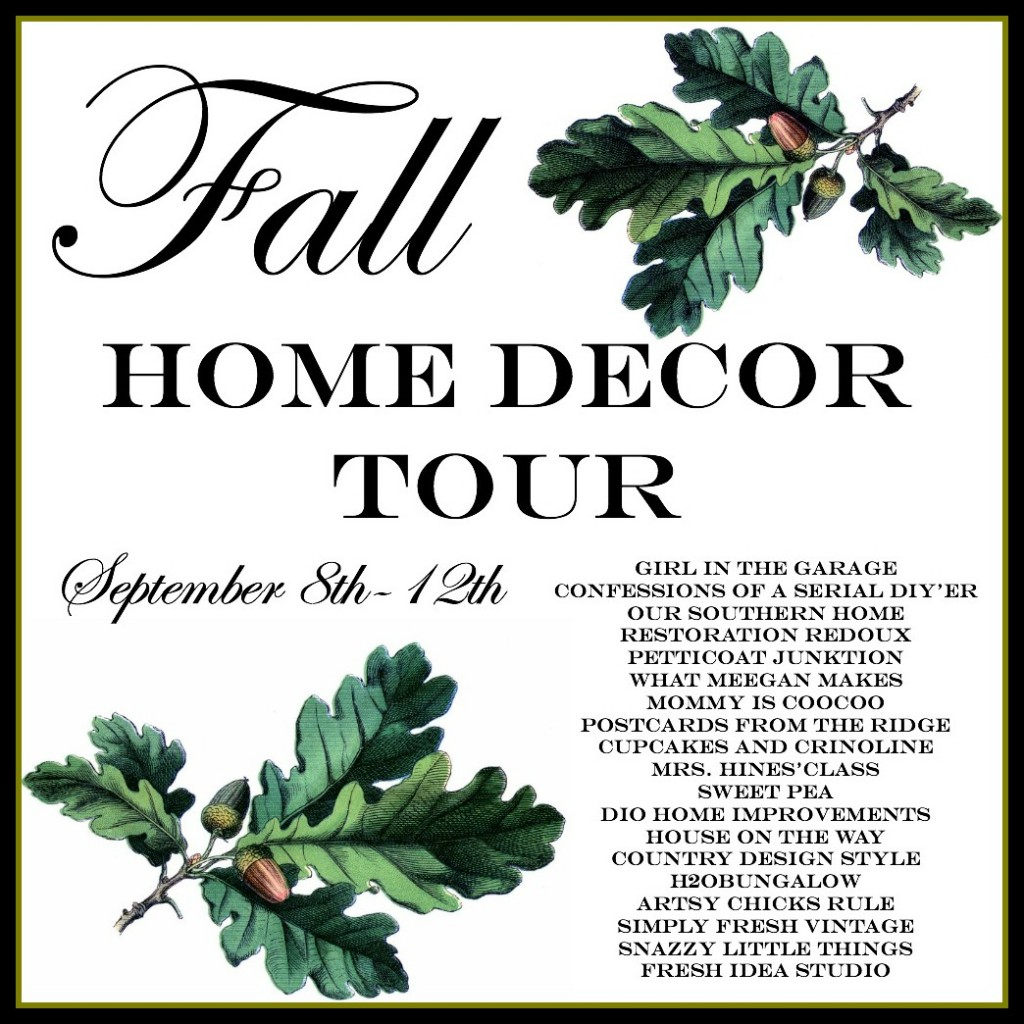 Fall Home Decor Tour - September 8-12, 2014 - 19 bloggers share inspiring fall decor!