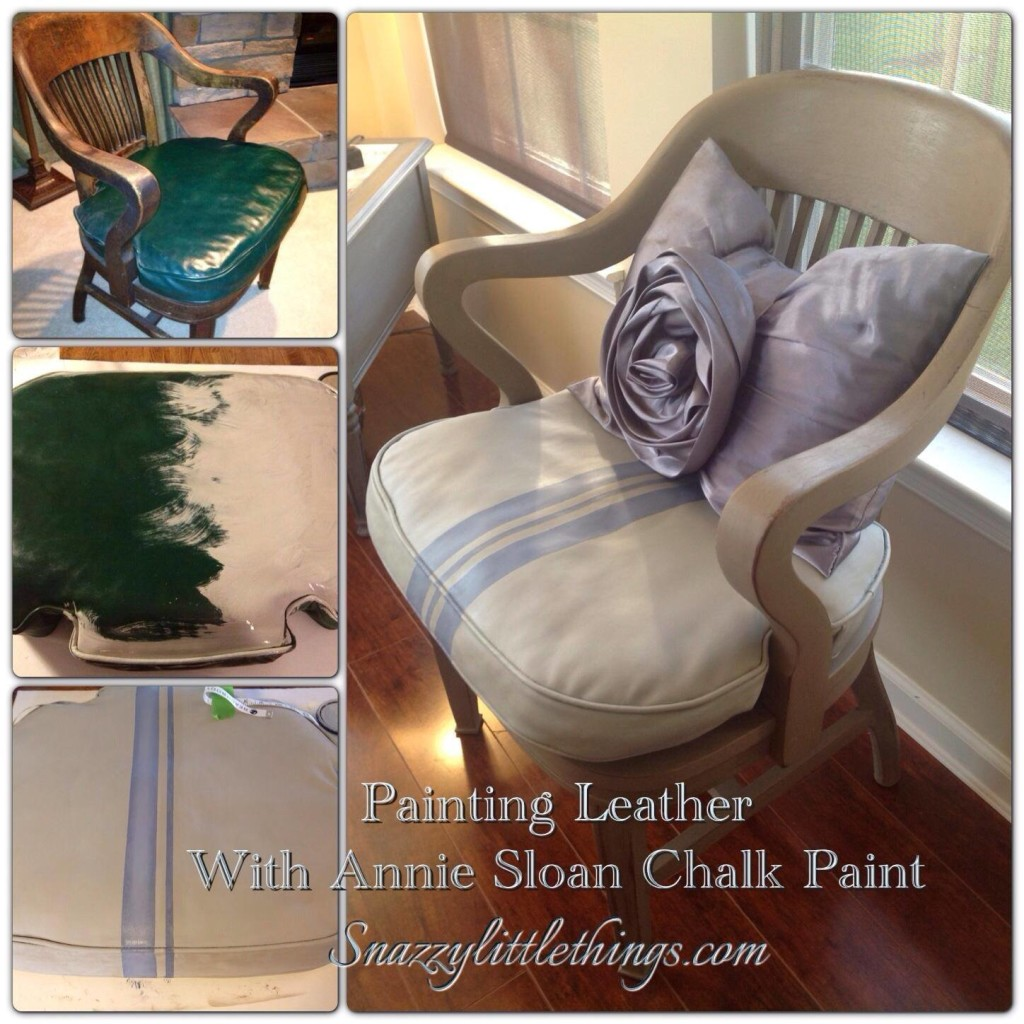 Snazzy Little Things - Leather Chair Makeover