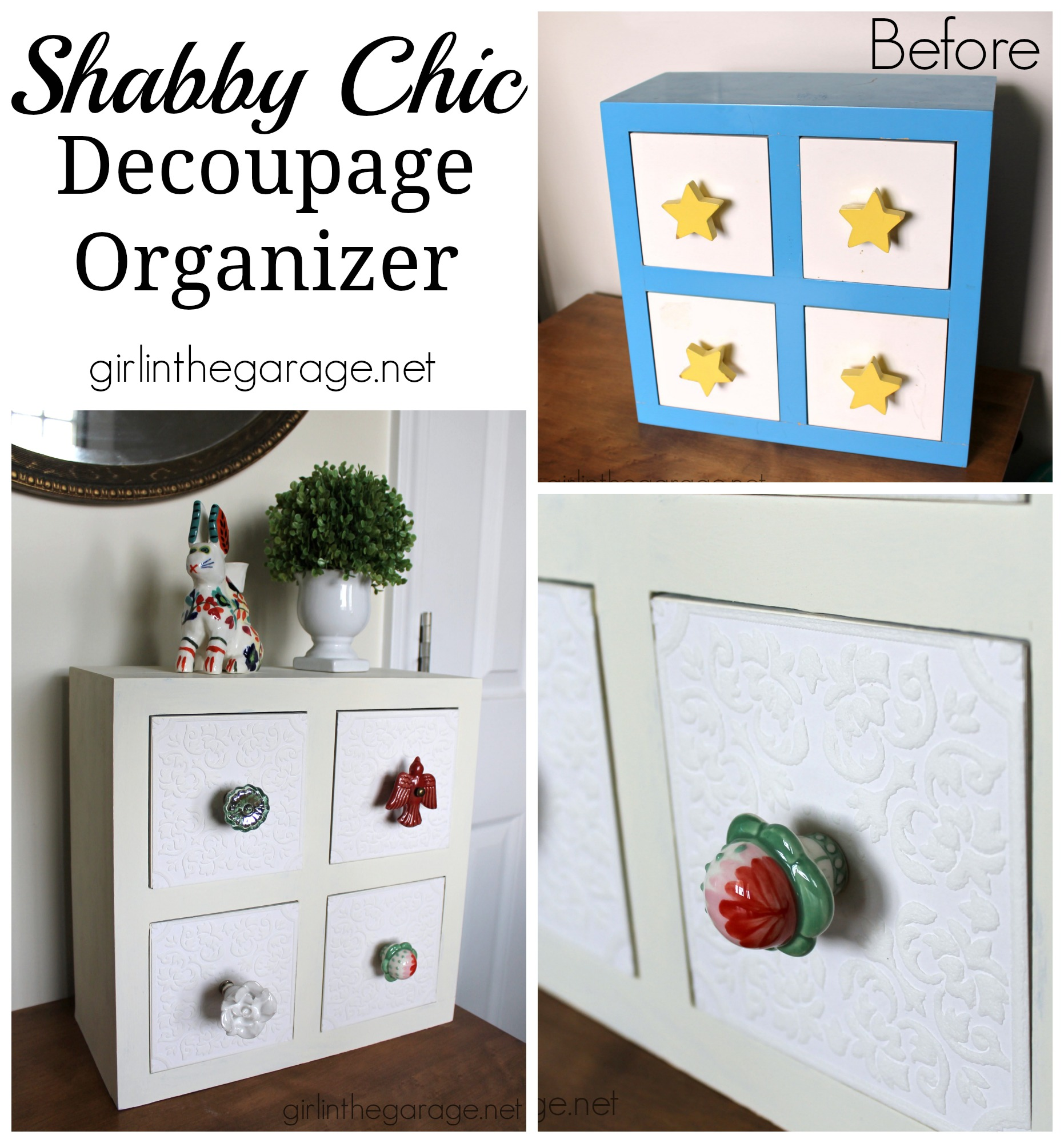 See How A Kidsu0027 Storage Box Was Transformed Into A Shabby Chic Organizer  With Chalk