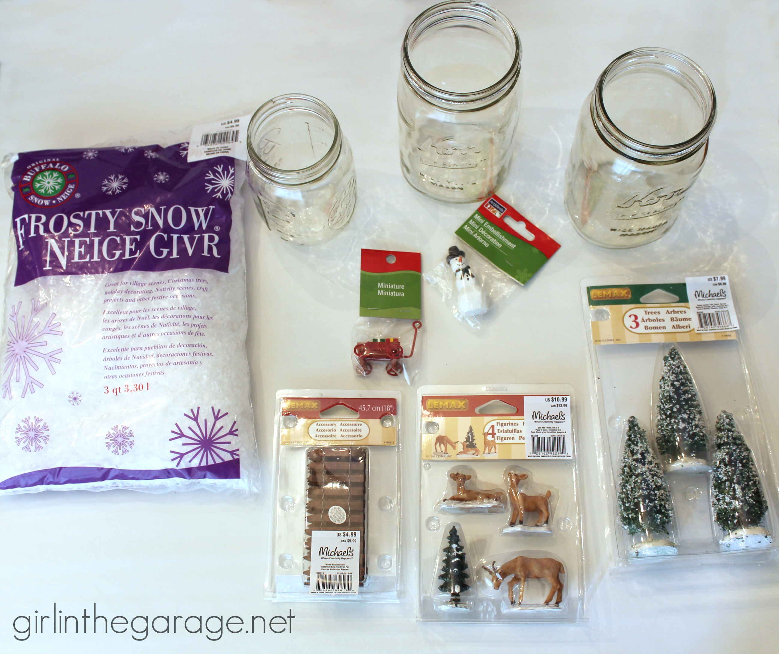 Winter Scene in a Mason Jar | Girl in the Garage®