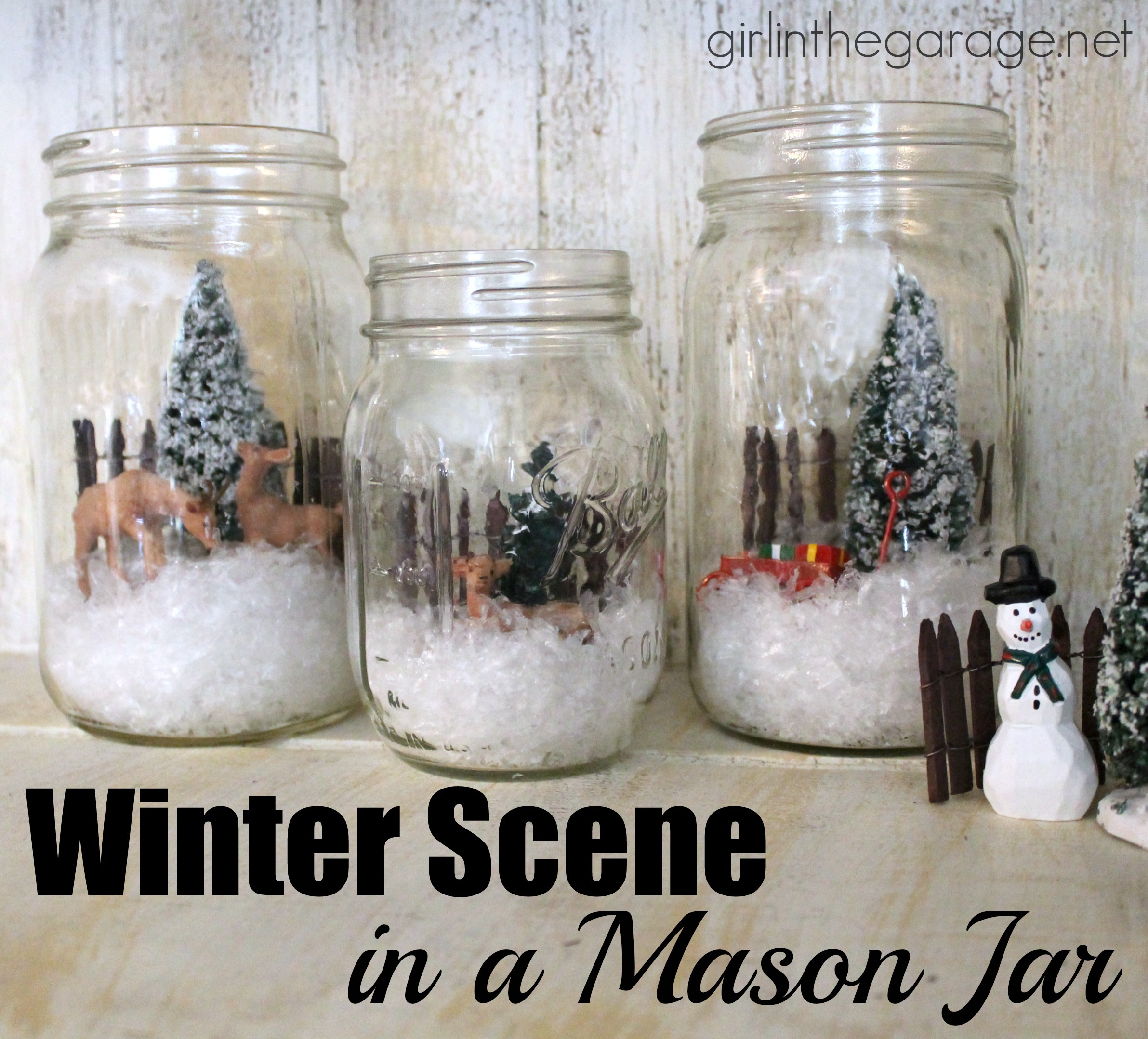 winter scene in a mason jar girl in the garage u00ae dollhouse miniature wire furniture