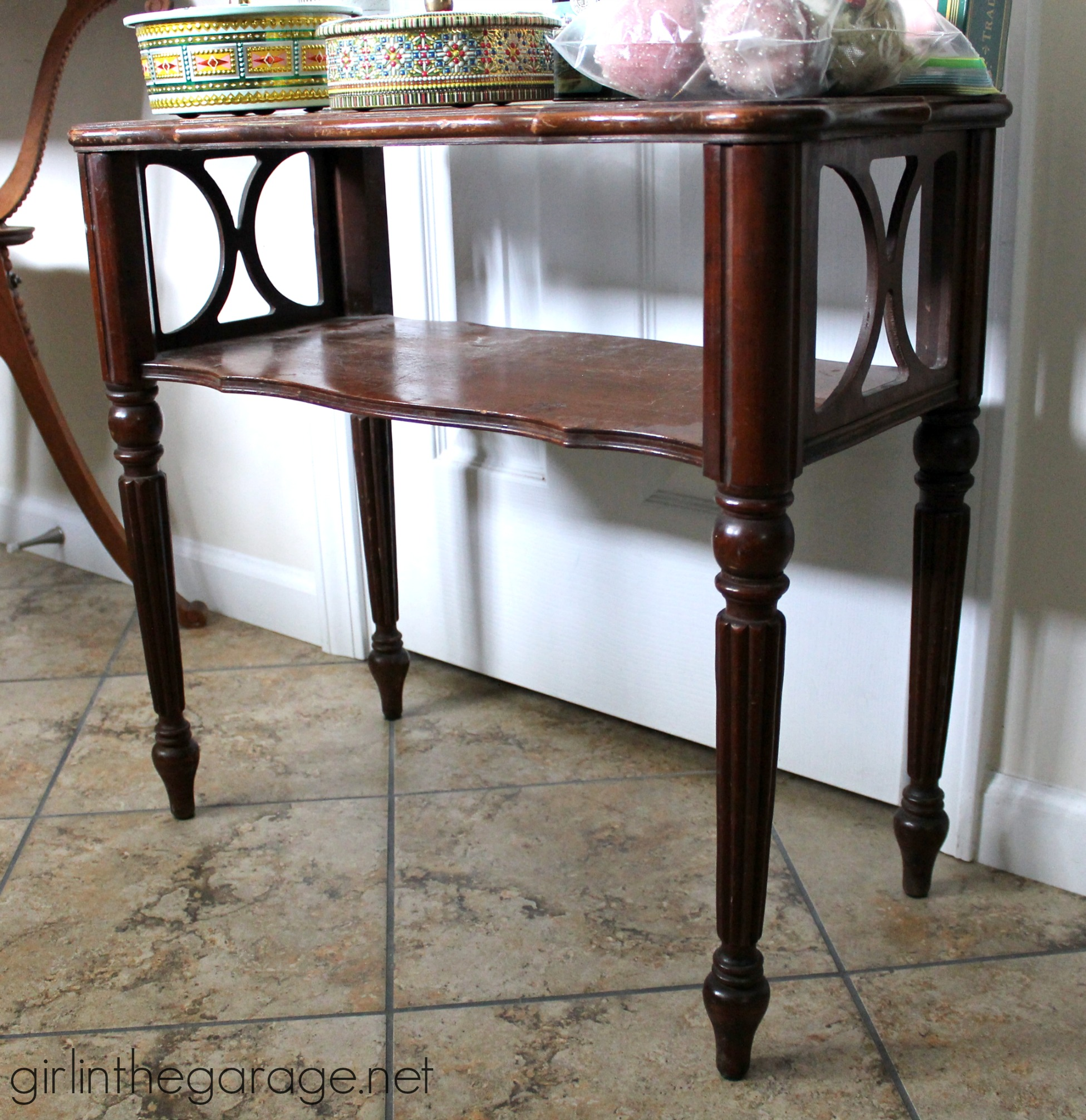 Table Makeover In Layered Chalk Paint Girl In The Garage