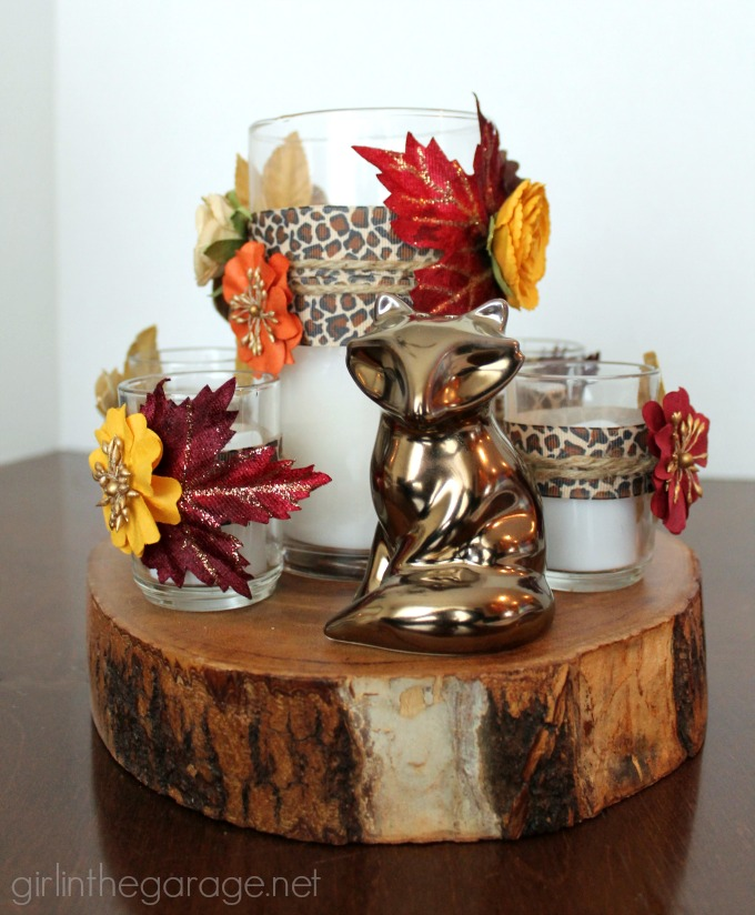 How to create a stunning rustic DIY fall centerpiece - girlinthegarage.net