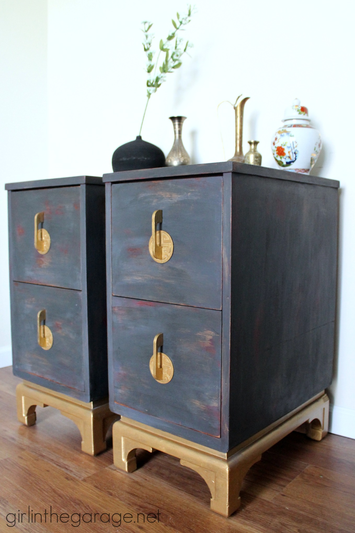 Oriental Nightstands Themed Makeover Girl In The Garage 174