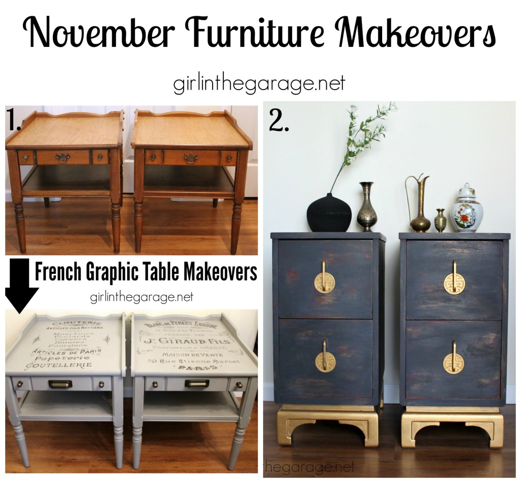 November Furniture Makeovers - girlinthegarage.net