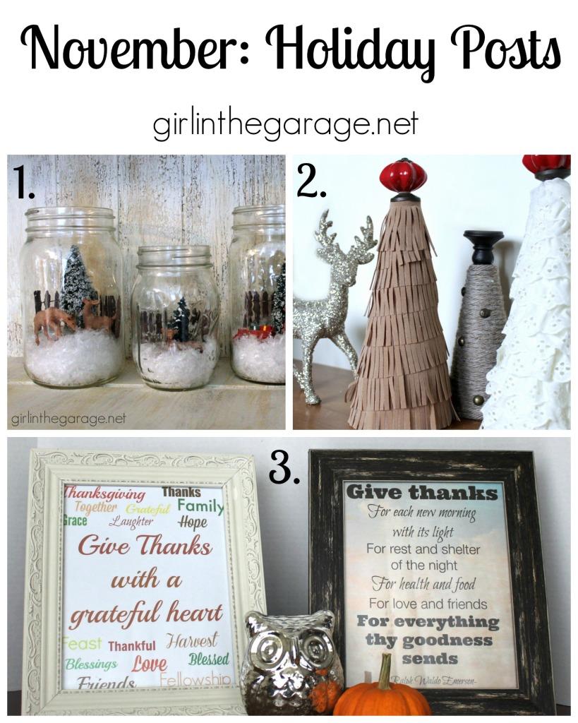 November: Holiday Posts - girlinthegarage.net