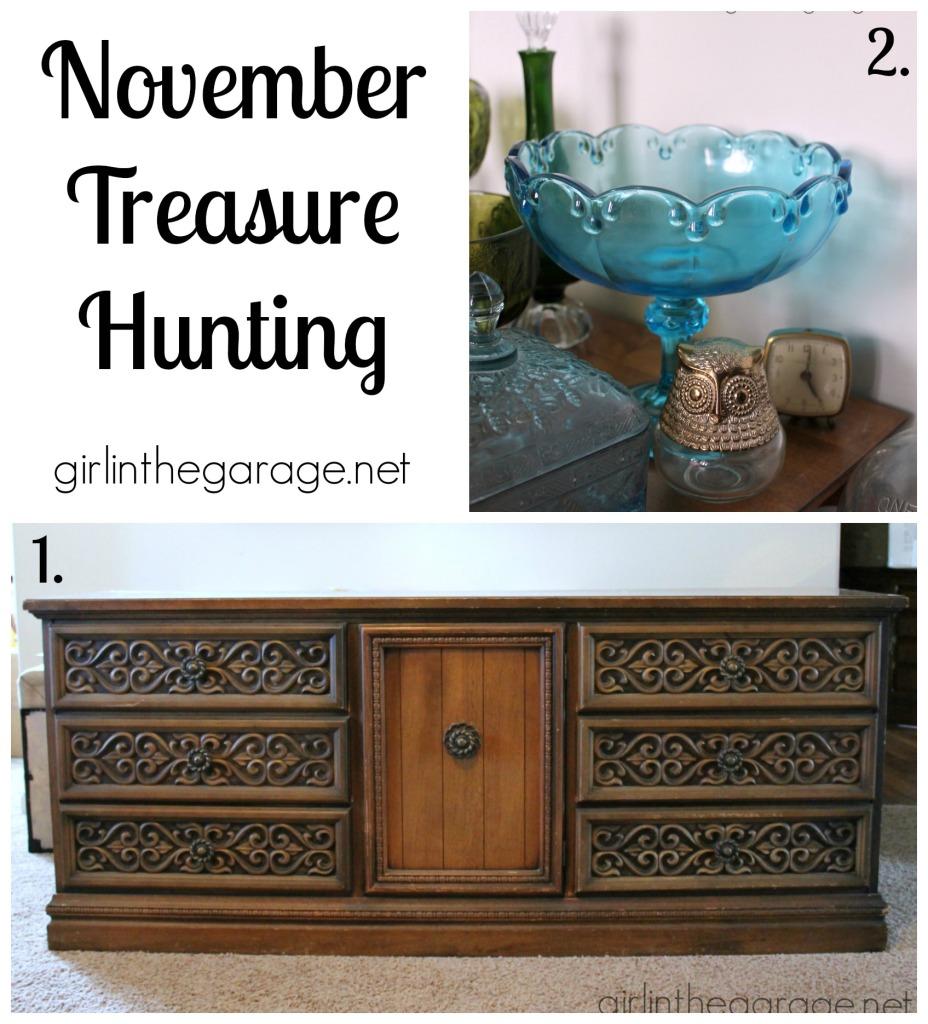 November Treasure Hunting - girlinthegarage.net