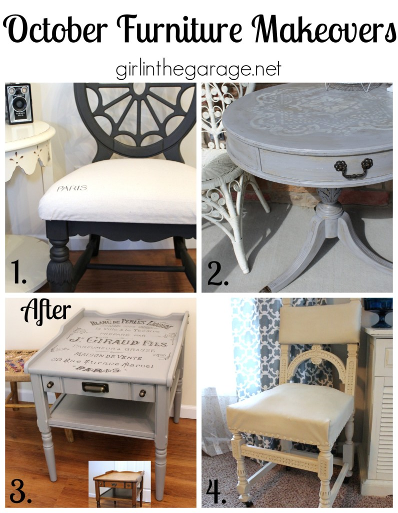 October 2014 Furniture Makeovers - girlinthegarage.net