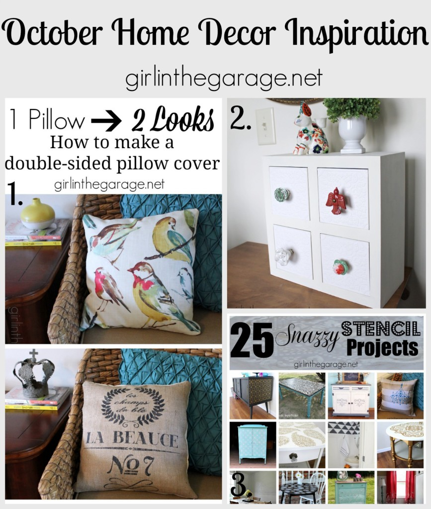October 2014 Home Decor Inspiration - girlinthegarage.net